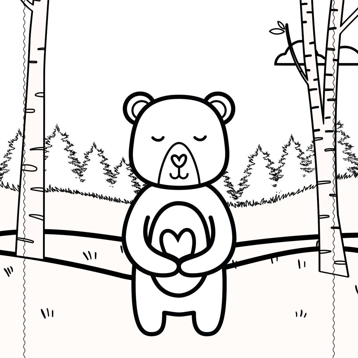 Prietenii din Pădure – Pagini de Colorat